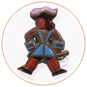 Musketeer shaped brooch,