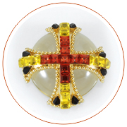 Maltese cross brooch, 