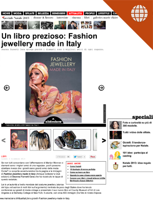 Un libro prezioso: Fashion Jewellery Made in Italy Dec. 6, 2013