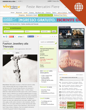 Fashion Jewellery alla Triennale March 8, 2014